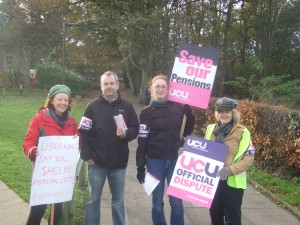 UEA UCU picket