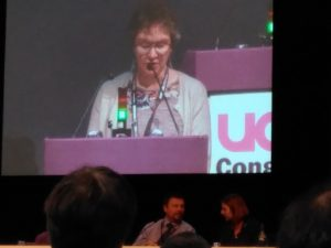 UEA UCU President at conference